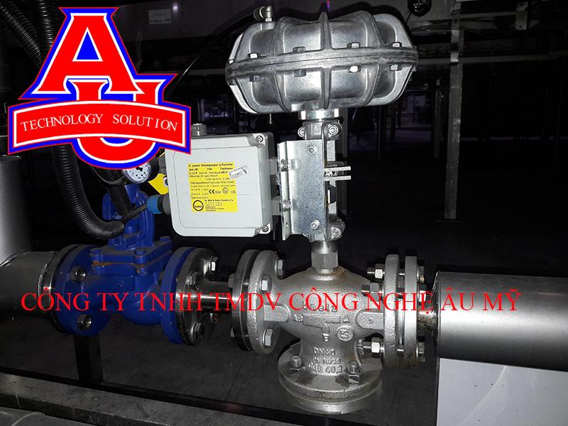 van điều khiển cầm chừng hoạt động bằng khí nén và tín hiệu 4...20mA hoặc 0...10V.