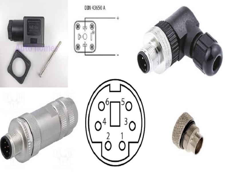 các loại jac cắm điện của cảm biến áp suất nước