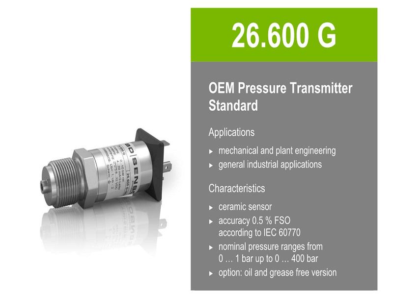 hình ảnh cảm biến áp suất BD Sensor 26.600G