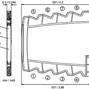 Kích thước bộ chuyển đổi tín hiệu analog DB64000