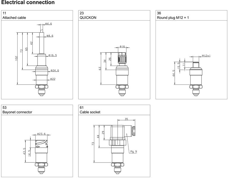 chuẩn kết nối cảm biến áp suất Jumo Midas C08