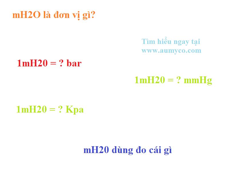 Đơn vị đo áp suất mH2O