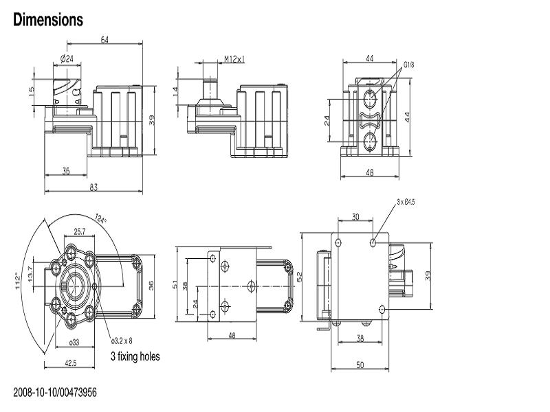 Kích thước cảm biến đo chênh áp Jumo Midas Dp10