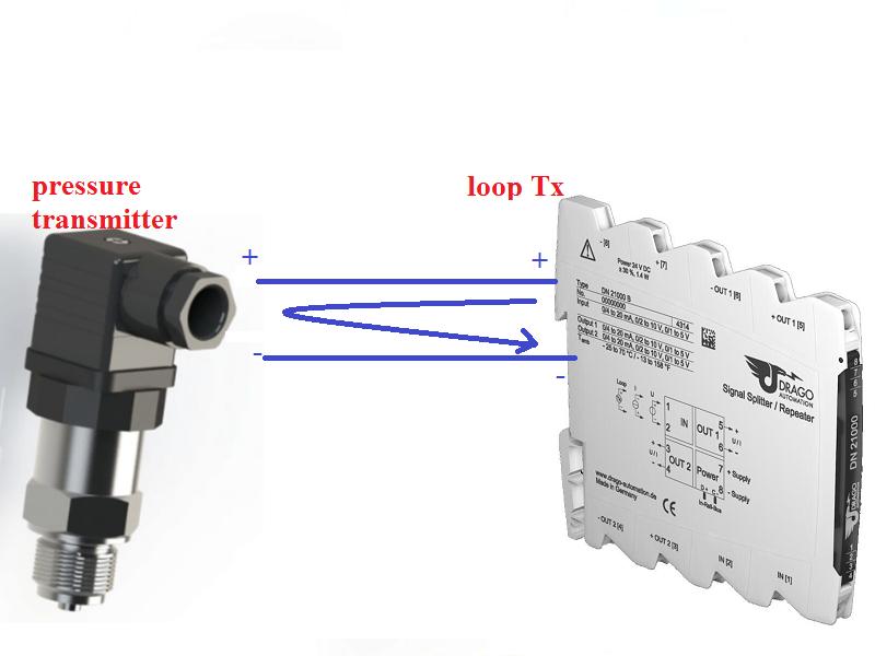 cách đấu dây tín hiệu 4-20mA passive với loop powered