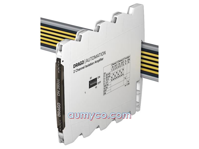 DIP switch trên bộ khuếch đại cách ly tín hiệu DN26000 Drago
