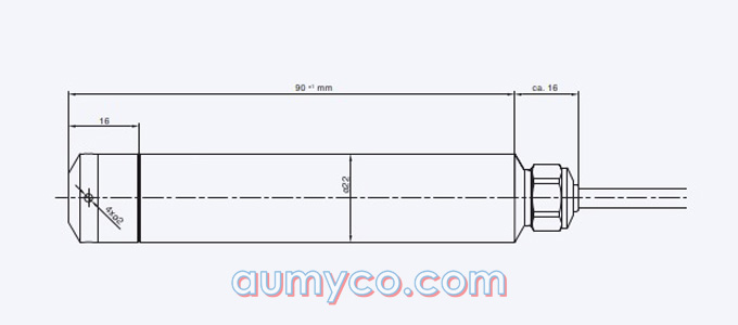 Kích thước cảm biến đo mức 36XW Keller